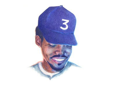 Chance The Rapper chance the rapper prismacolor colored pencil drawing illustration
