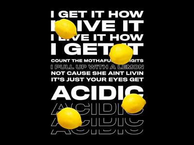 Lemon Poster n.e.r.d typography poster design graphic design poster lemon