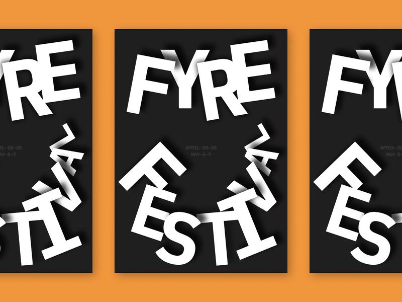Burn Poster burn typography poster design poster graphic design fyre festival