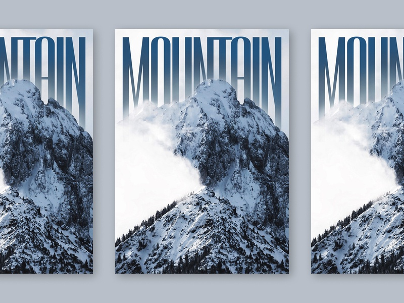 Mountain Poster typography graphic design poster mountain