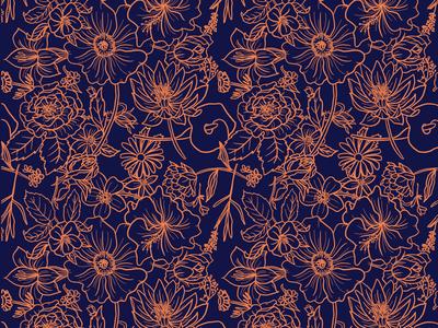 Flower Wallpaper Pattern procreate sketch repeating design flowers floral illustration pattern wallpaper