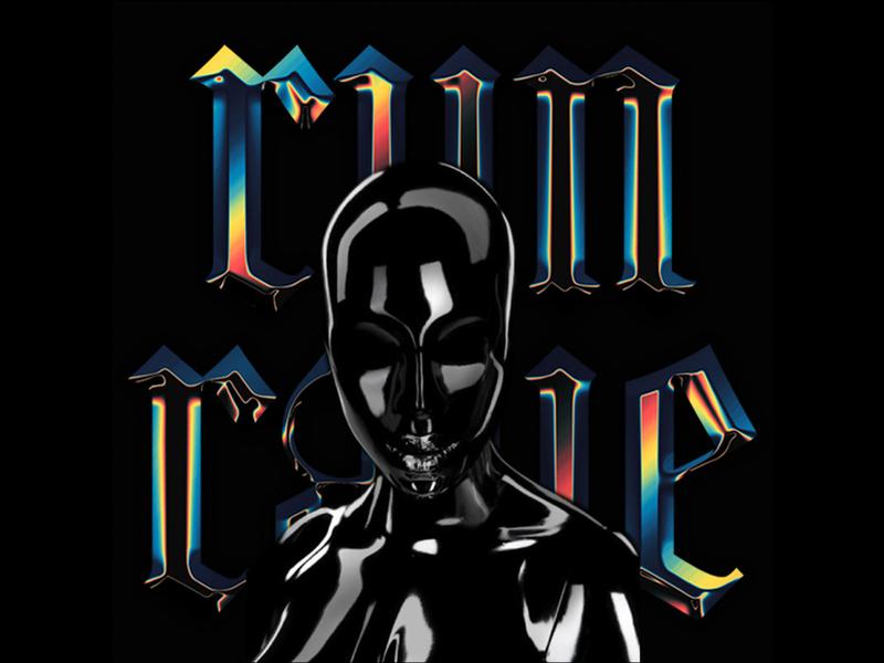 Run or Rave playlist music rave typography chrome graphic design