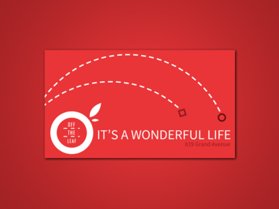 Off The Leaf Gift Cards off the leaf billings coffee coffee shop gift cards holiday branding red its a wonderful life