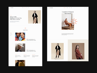 Le Monte Website Editorial ecommerce fashion brand layout fashion minimal ux clean typography webdesign