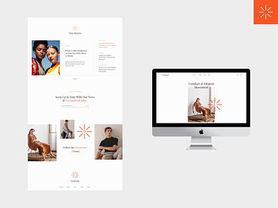 LeMonte Editorial editorial fashion website fashion mockup ux web design typography webdesign clean minimal