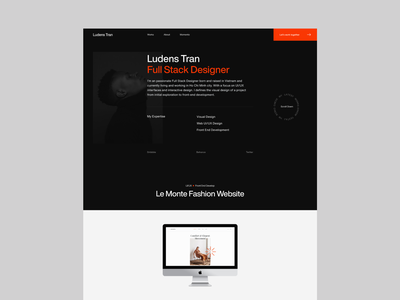 Portfolio 2020 Website dark clean ux ui portfolio web design webdesign typography minimal