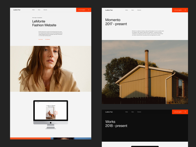 Ludens Tran® web design ux ui dark website portfolio typography minimal clean