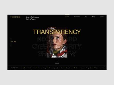 Futur Index ux web design dark uiux clean minimal website ui typography webdesign