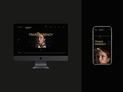 FuturIndex Mockup design webdesign ui ux web design dark minimal typography website clean