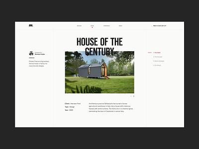 ARK Project Page web design webdesign uiux ui website typography clean minimal