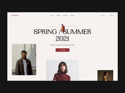 Britania Fashion Website Design design concept fashion website minimal ui web design webdesign typography clean