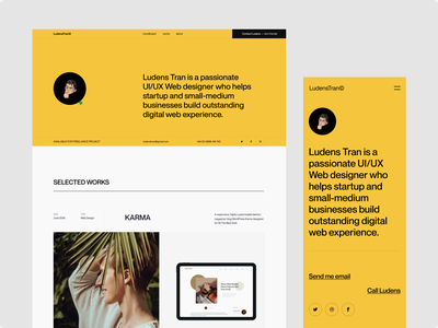 Ludens Porfolio Header web design ui typography ux uiux webdesign website minimal clean