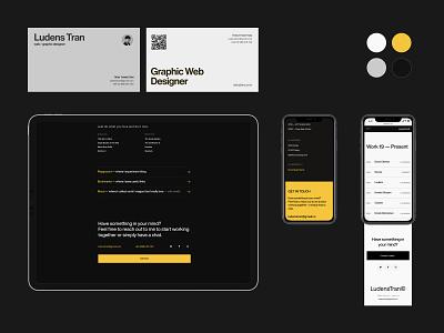 LudensTran® Mockup 2021 dark branding portfolio uiux web design ui website typography minimal clean