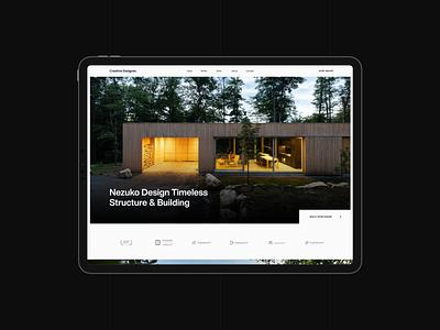 Architecture Concept uiux webdesign uidesign ux ui website web design typography minimal clean