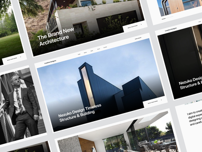 NEZUKO Architect uiux concept webdesign ux web design ui website typography minimal clean
