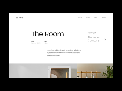 The Room by Ludens website design portfolio uiux clean uidesign ui project page minimal webdesign website