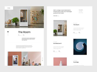 Portfolio by Ludens project page portfolio page portfolio design landing-page web design typography clean minimal ui uidesign web-design website web