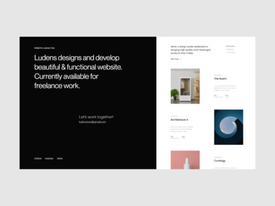 Introduce Personal Website by Ludens