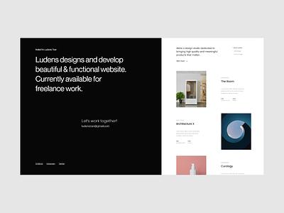 Introduce Personal Website by Ludens portfolio uidesign uxui ui typography minimal clean ui design concept website web design