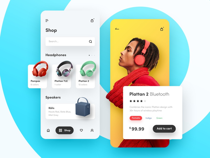 Urbanears - Headphones App Store minimal sound music shopping app ecommerce headphones clean app design mobile ui ux ios android apple app store app store shop