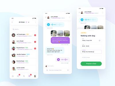 Skillmarket App - Deal Offer Script mobile app design mobile app mobile android app ios app skills deals deal messenger chat app chat design app design android ios ux ui clean apple app