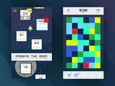 Exos game concept levels space match 3 game ios