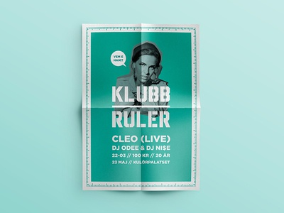 Klubb Ruler - posters poster logo logotype klubb ruler club hiphop nightclub concept profile graphic profile posters