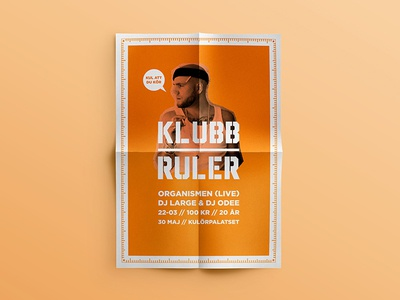 Klubb Ruler - posters logo logotype klubb ruler club hiphop nightclub concept profile graphic profile poster posters