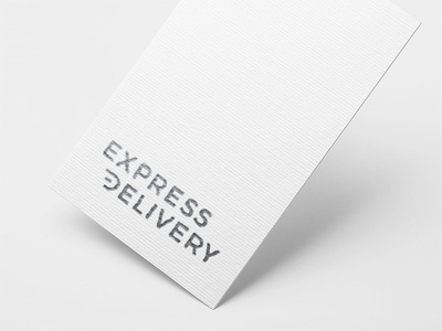 Express Delivery graphic profile express delivery card business freight delivery express stripes speed silver logotype symbol