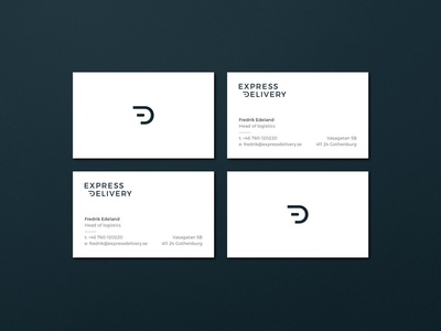 Express Delivery - business cards graphic profile symbol logotype speed stripes express delivery freight business cards business card express delivery