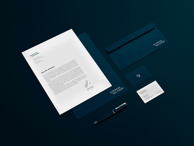 Express Delivery - stationery graphic profile business card stationery design branding logotype logo envelope paper design stationery