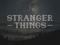 Typeface - Stranger Things