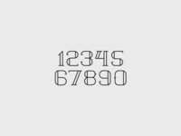Typeface - numbers