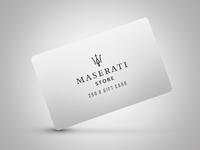 Maserati Gift Card Concept