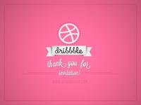 Thank you dribbble!