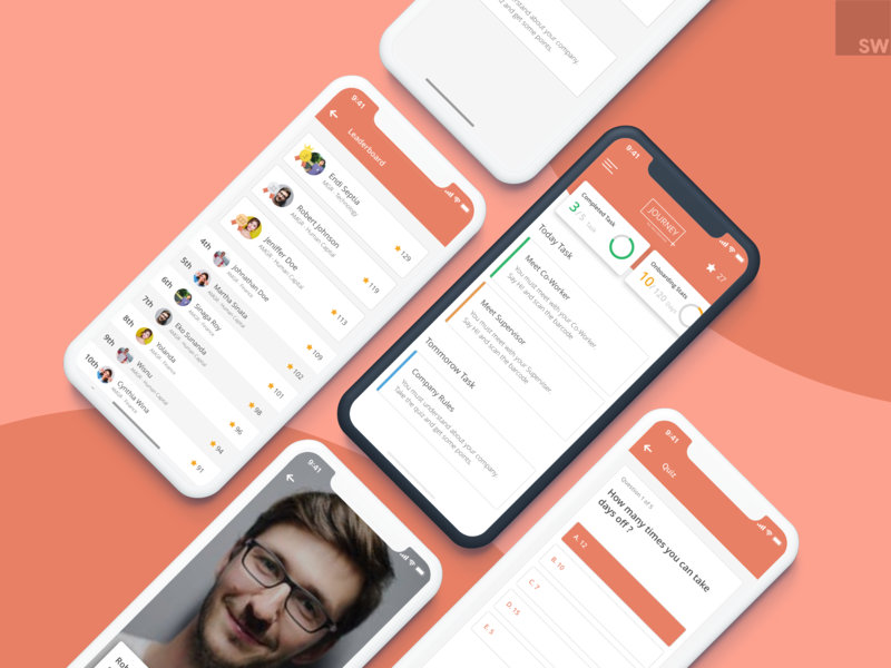 Journey - Gamification Onboarding System onboarding gamification ui ux ux design mobile app design