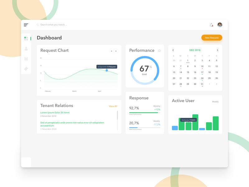 Tenant Management Dashboard dashboard ui dashboad design ux design ux ui ui design