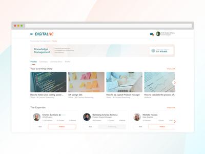 Knowledge Management Application dashboard ui dashboad app ux ui ux design
