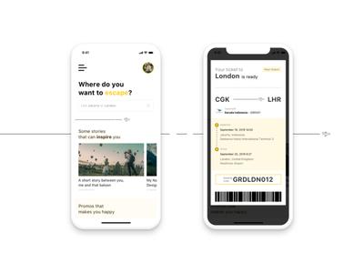 Ticket Notification design flat vector app ui design mobile app design ux ui ux design