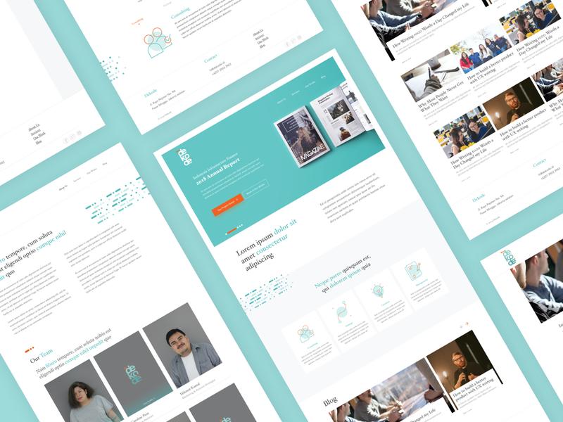 Company Profile Website responsive about us company profile minimal clean landing page typography desktop vector branding flat design ui design ux ui ux design