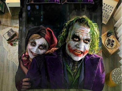 Joker and Harley Quinn bedding