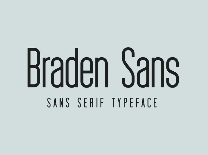 Braden Sans web font screen editorial design branding handcrafted minimalism sans serif font font family sans serif modern typeface display font typography