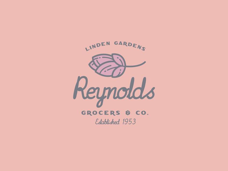 Reynolds Logo type design branding font typeface logo typography handcrafted vintage retro