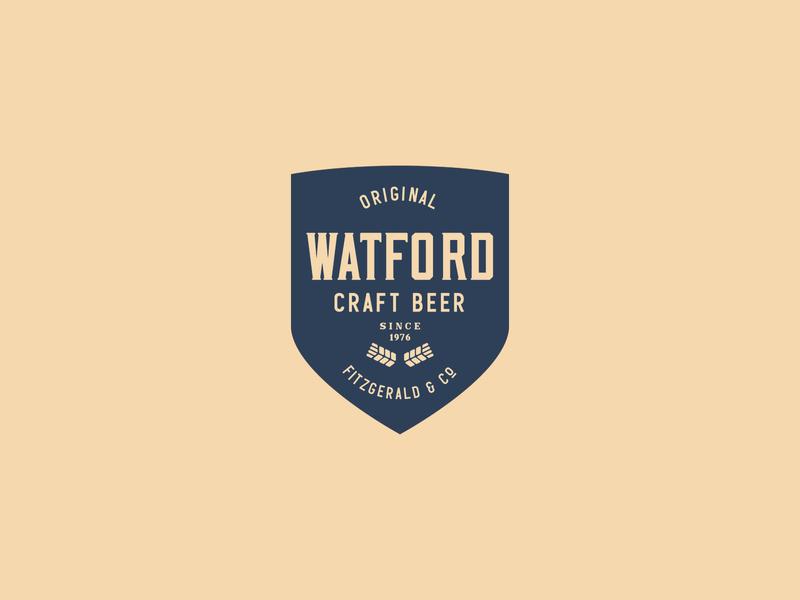 Craft Beer Logo brand branding typeface label badge typography logo handcrafted vintage retro