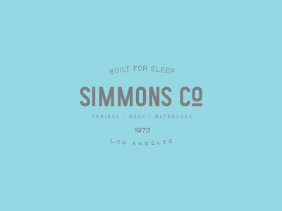 Simmons Co. - Retro Logotype type label branding typeface font typography logo handcrafted vintage retro