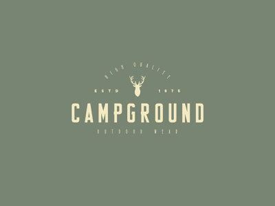 Campground type branding typeface display font typography logo handcrafted vintage retro