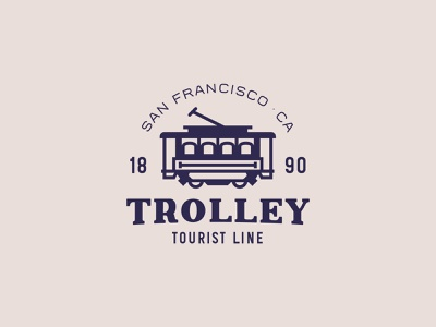 Trolley - Logo badge display type typeface font typography logo handcrafted vintage retro