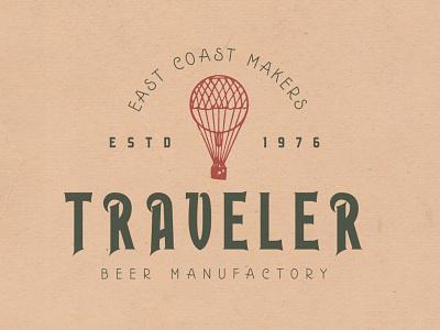 Traveler type badge logo typeface display font typography handcrafted vintage retro
