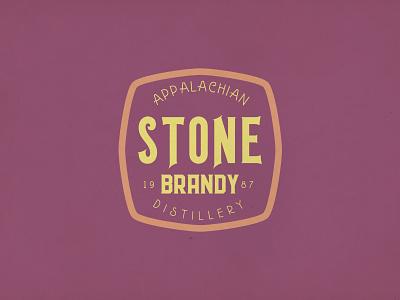 Stone Brandy label badge branding display vintage retro typeface font logo typography
