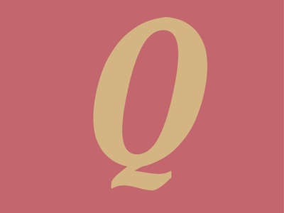36 Days of Type - Q 36daysoftype handcrafted serif font modern typo type display typeface font typography